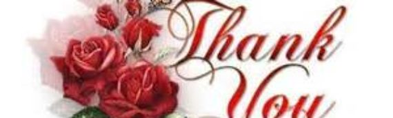 Thank You from Marilyn's Family
